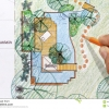 planes-del-jardn-del-agua-del-diseo-del-arquitecto-paisajista-49110340